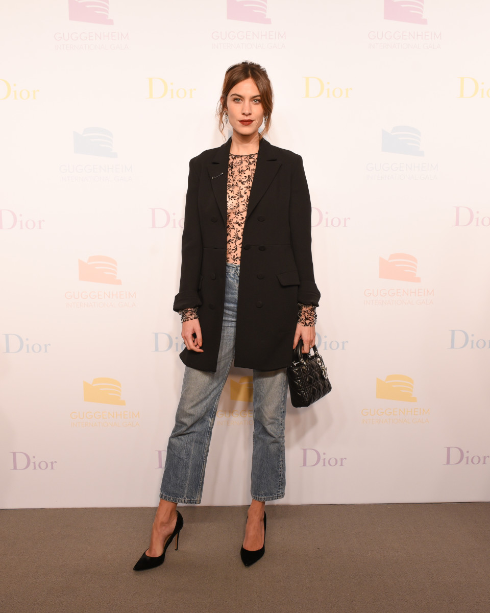 Alexa Chung at the 2016 Guggenheim International Gala Pre-party. Photo: Dior