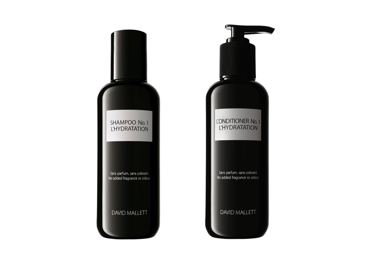 David Mallett Shampoo No.1 L'Hydration, $45, and Conditioner No.1 L'Hydration, $50, available at Net-a-Porter.
