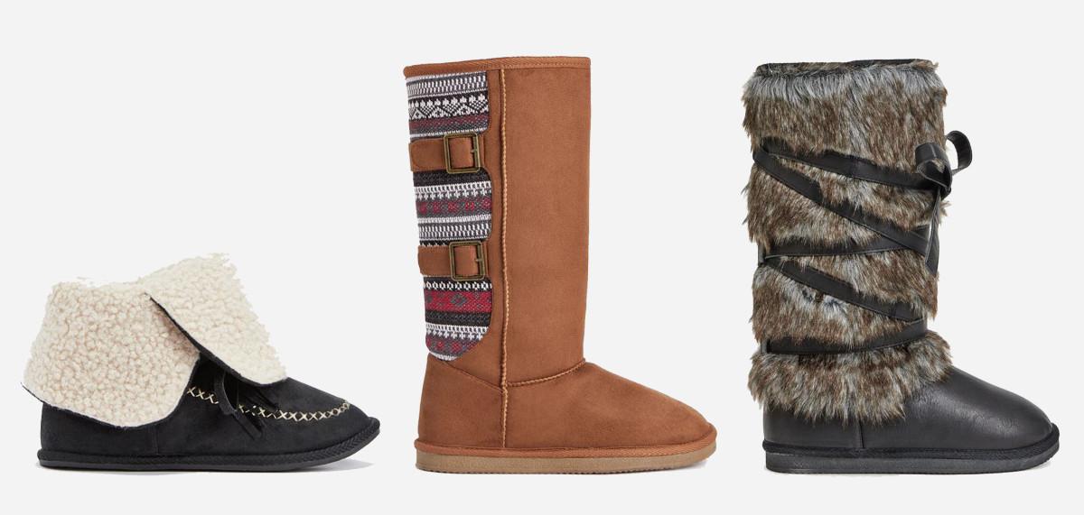 L-R: Norilsk bootie, $7.49 VIP/$39.95 Regular; Columbus boot, $9.99 VIP/$60 Regular; Laramie boot, $9.99 VIP/$59.95 Regular