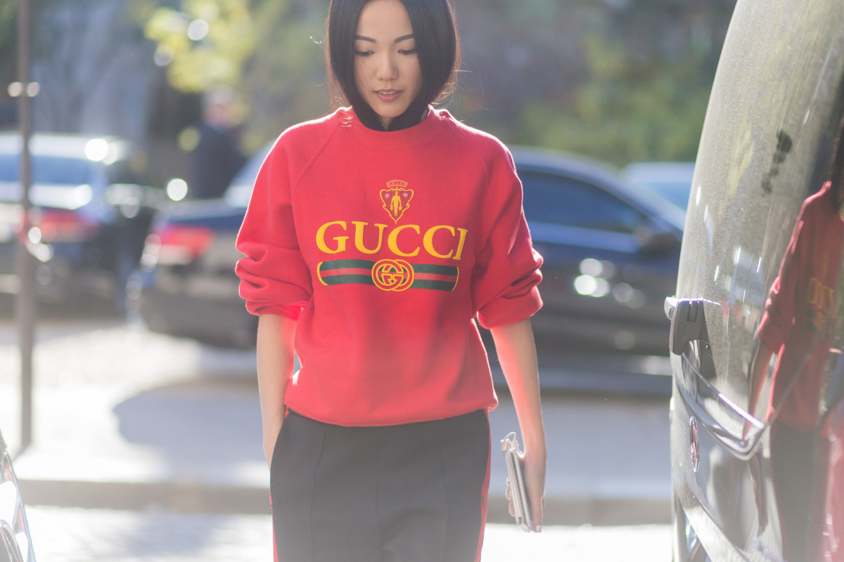 e4adedf02cc Yoyo Cao in a Gucci logo sweatshirt. Photo  Christian Vierig Getty Images
