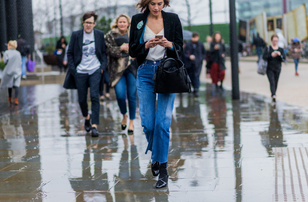 Alexa Chung at London Fashion Week. Photo: Christian Vierig/Getty Images