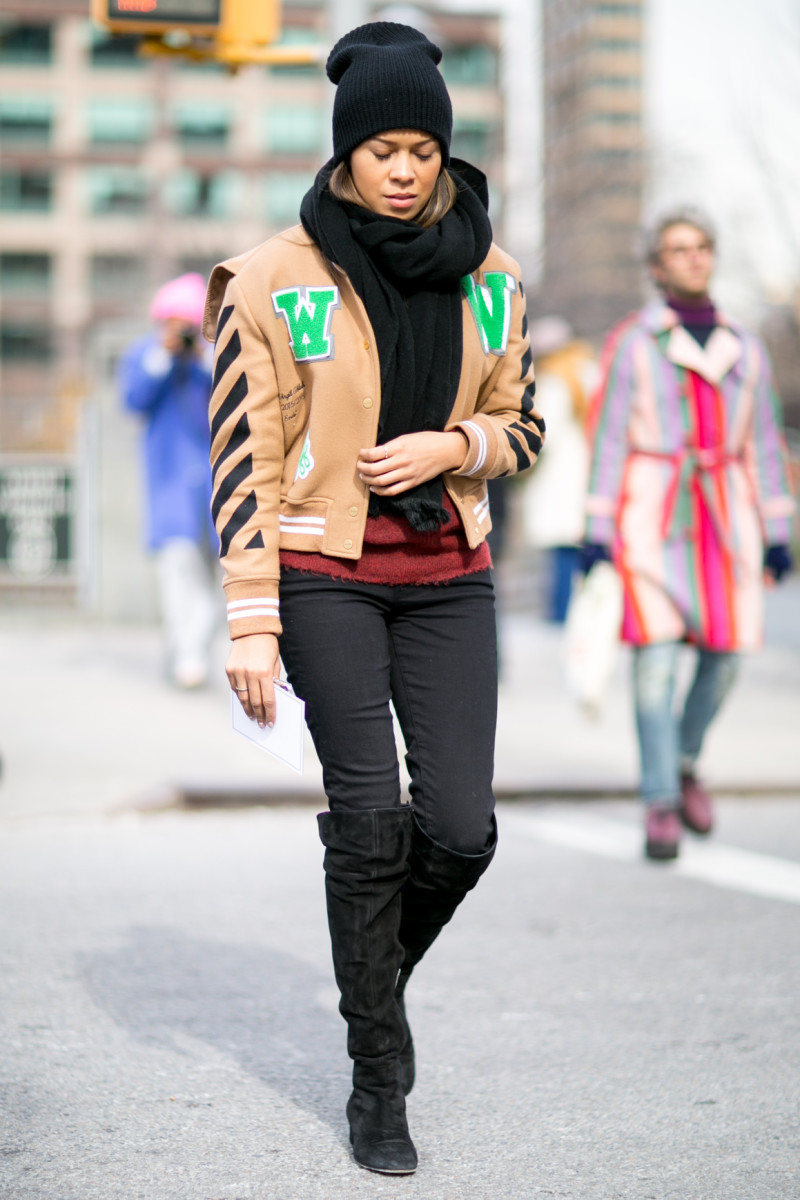On the street at fall 2016 New York Fashion Week. Photo: Imaxtree
