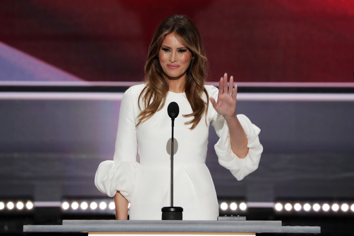Melania Trump at the Republican National Convention on July 18, 2016 in Cleveland, Ohio. Photo: Alex Wong/Getty Images