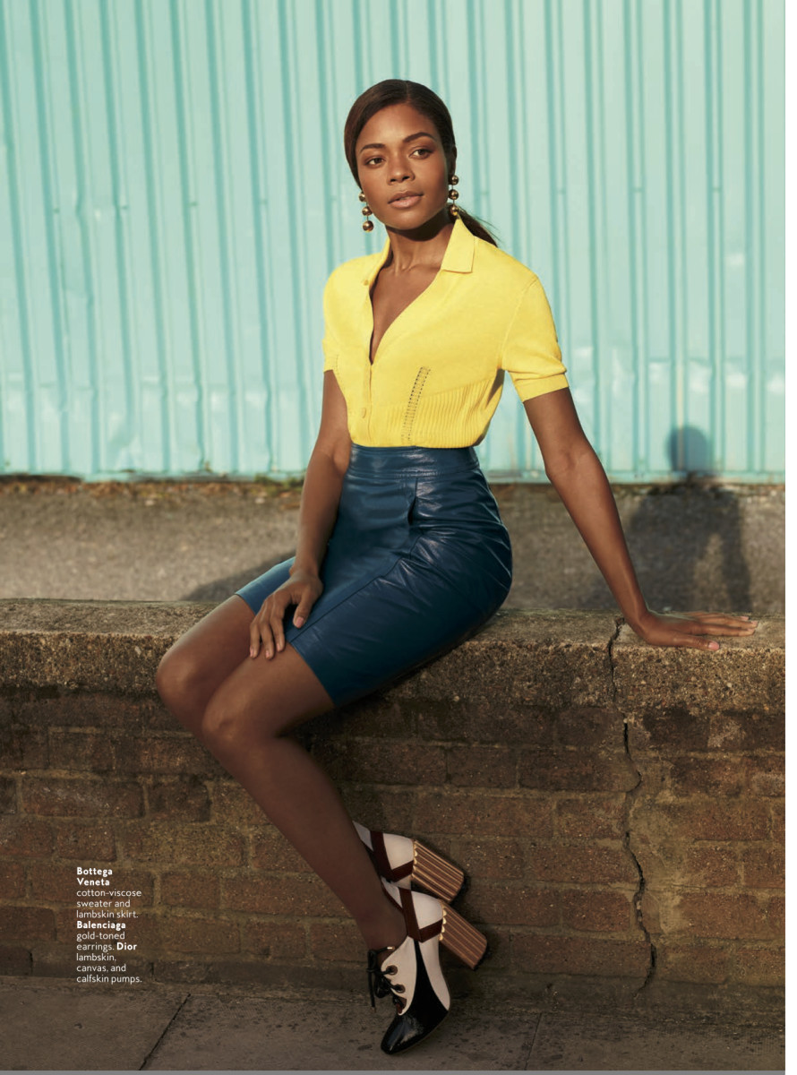 Naomie Harris in the December issue of InStyle. Photo: Courtesy