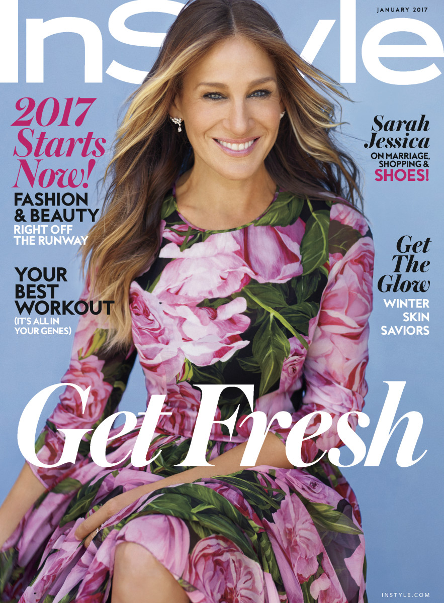Sarah Jessica Parker on the January 2017 cover of InStyle. Photo: Courtesy
