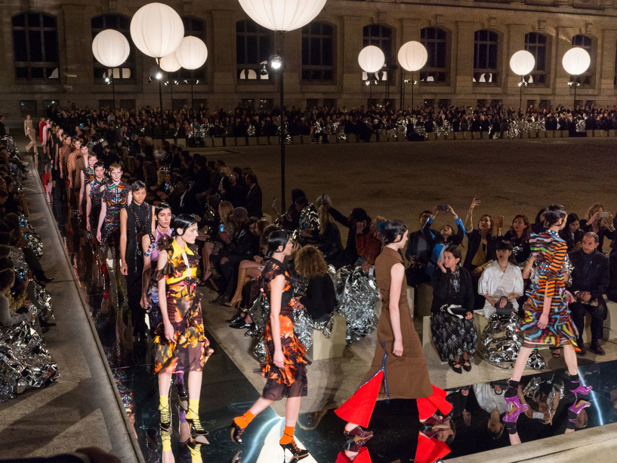 The finale walk at the Givenchy spring 2017 show. Photo: Imaxtree