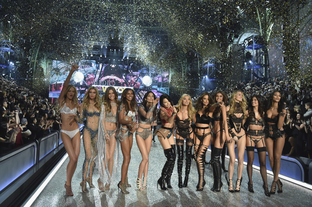 Who's cleaning up all that confetti? Photo: Pascal Le Segretain/Getty Images for Victoria's Secret