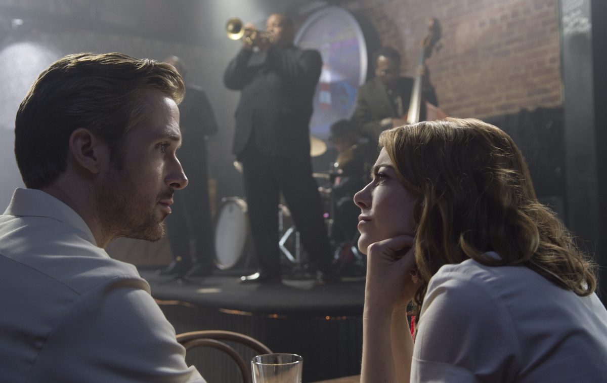 Same. Sebastian (Ryan Gosling) and Mia (Emma Stone) in 'La La Land. Photo: Dale Robinette/Summit Entertainment