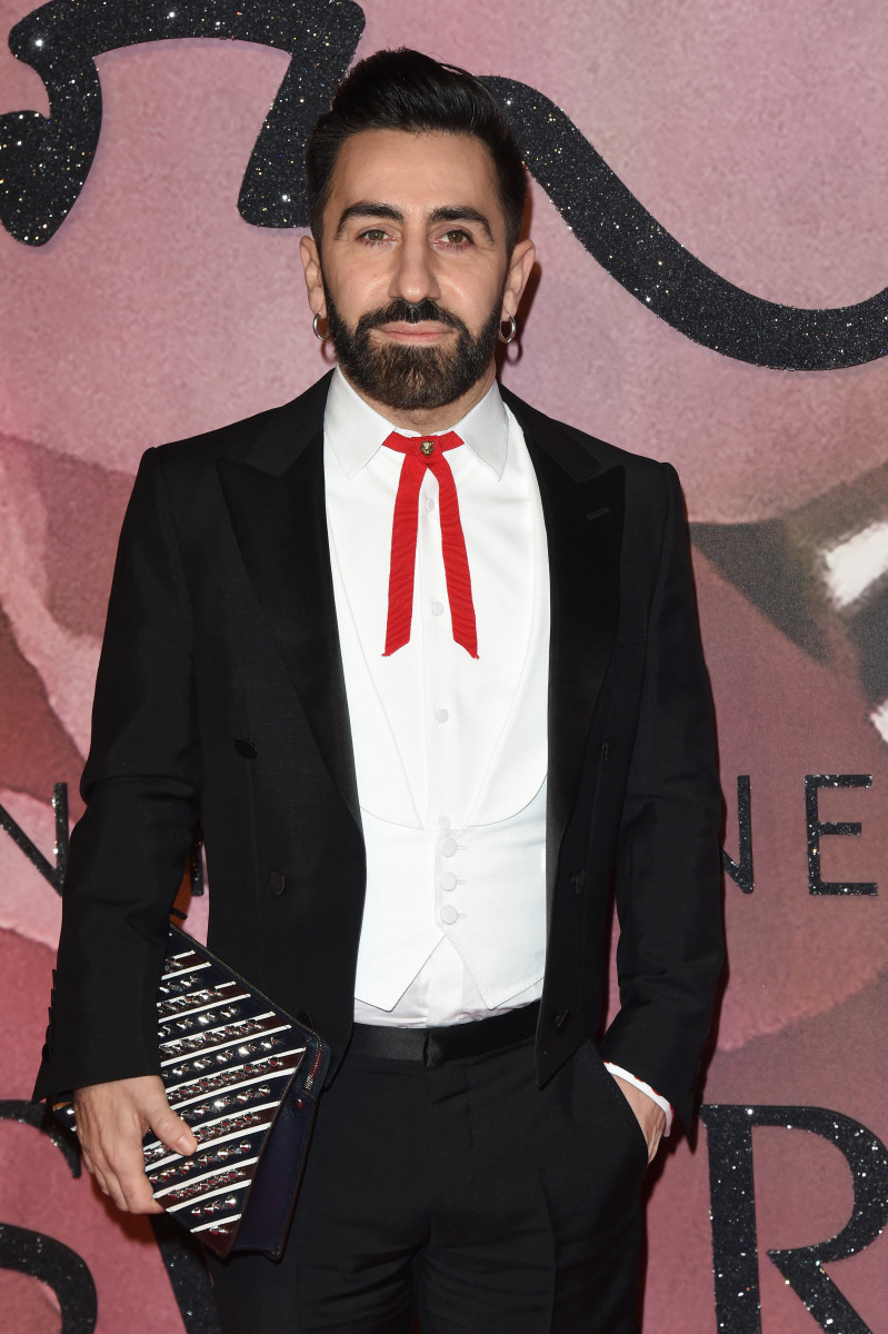 Mulberry creative director Johnny Coca at the 2016 Fashion Awards. Photo: Stuart C. Wilson/Getty Images