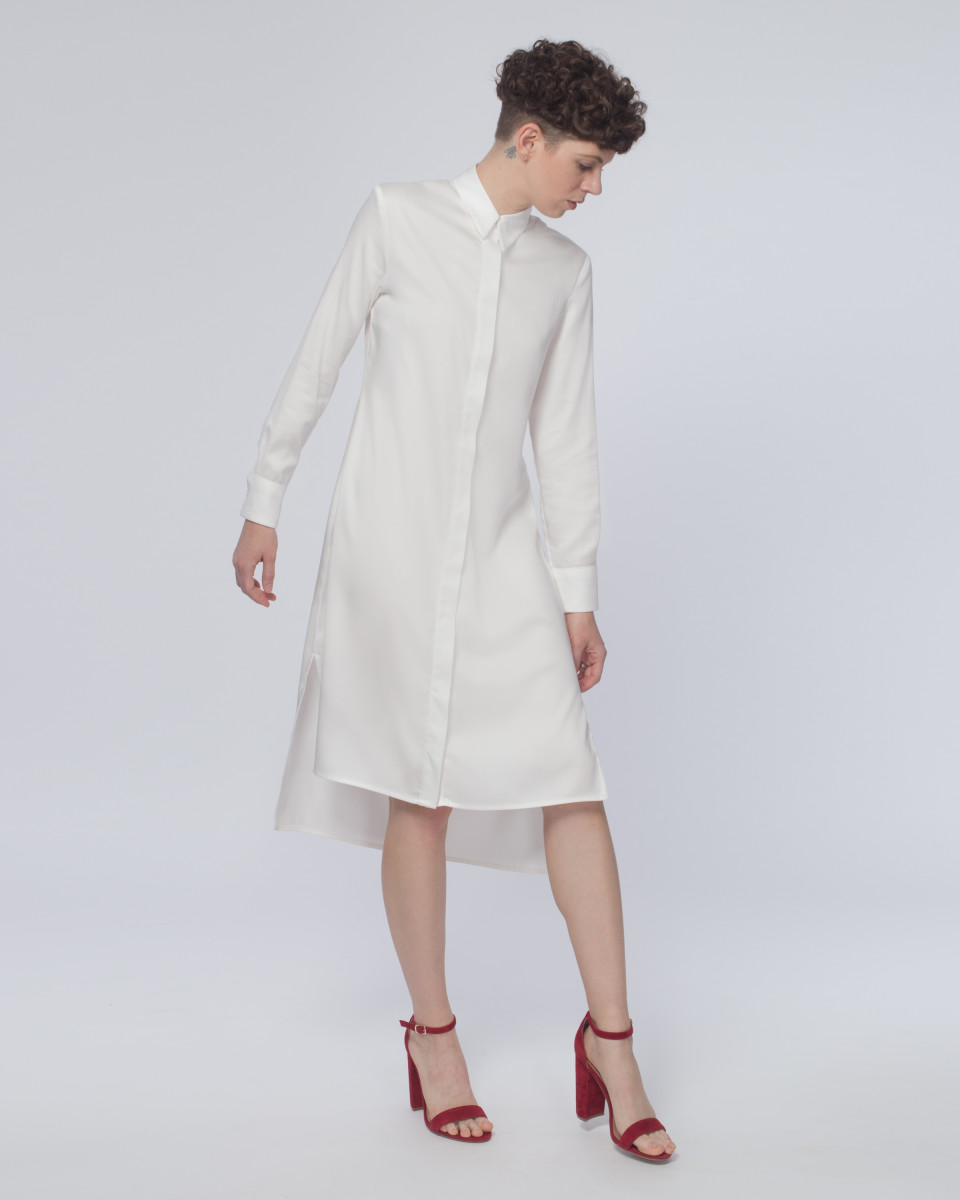 Hidden button shirtdress, $192, available at One by One.