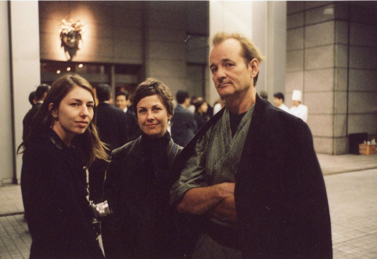 "Sofia Coppola, Nancy Steiner and Bill Murray on the ""Lost in Translation"" set. Photo: Courtesy of Nancy Steiner"