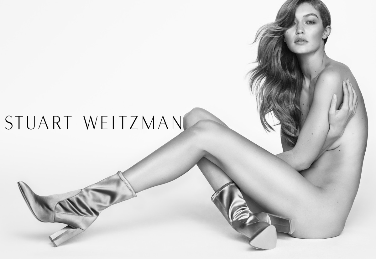 Gigi Hadid for Stuart Weitzman spring 2017. Photo: Mario Testino