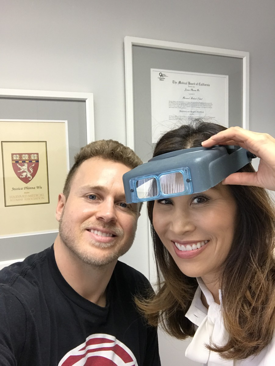 Spencer and his dermatologist, Dr. Jessica Wu, who also works with a mind-boggling list of other celebrities. Photo: Courtesy of Spencer Pratt