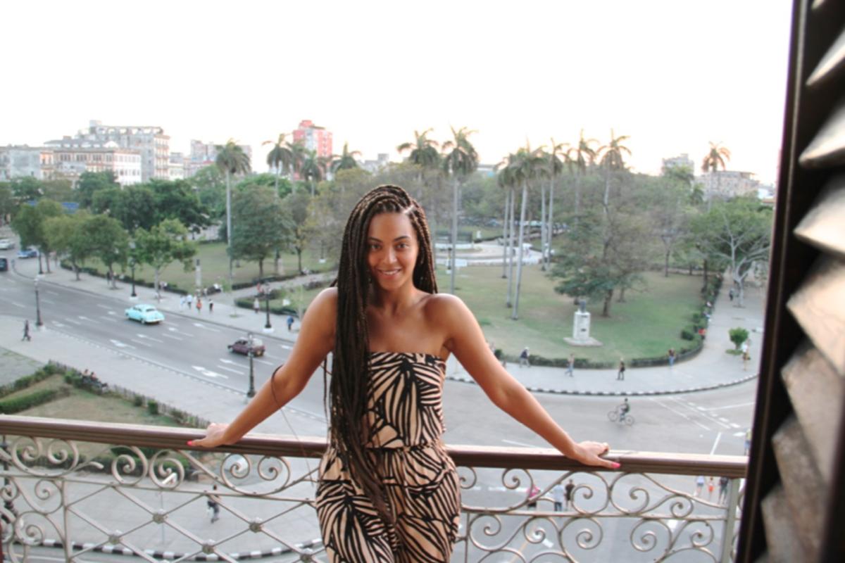 Beyonce at the Hotel Saratoga in Havana. Photo: beyonce/Tumblr