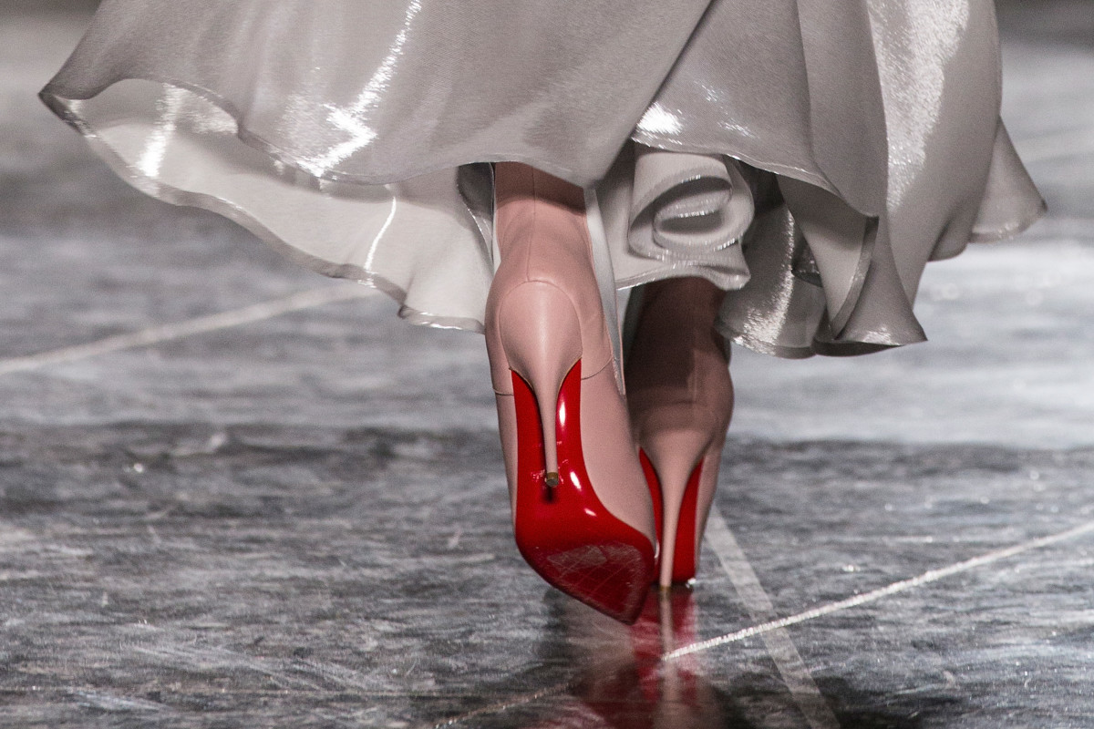 A signature pair of Christian Louboutin red soles. Photo: Tristan Fewings/Getty Images