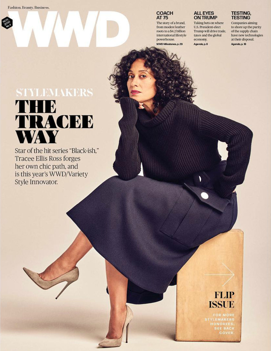 "Tracee Ellis Ross on ""WWD,"" Nov. 2016 No. 3. Photo: @wwd/Instagram"