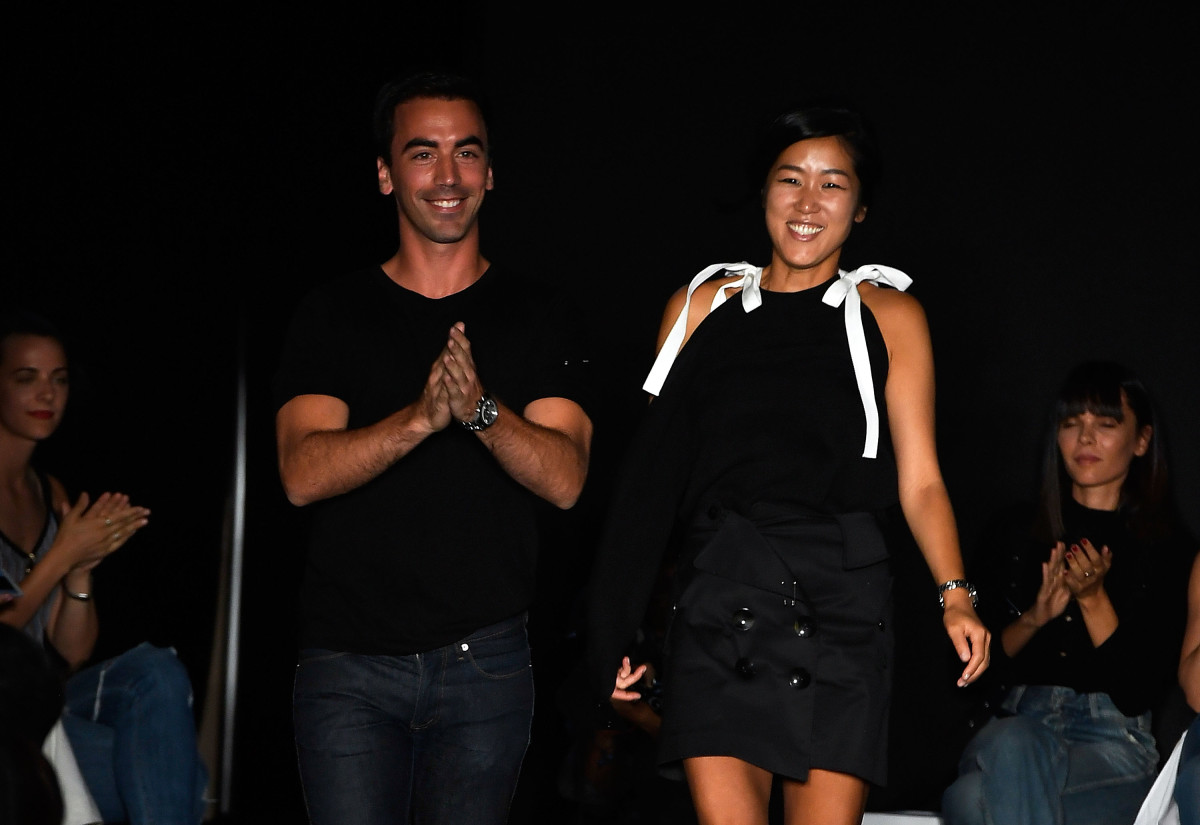 Monse and Oscar de la Renta designers Fernando Garcia and Laura Kim. Photo: Slaven Vlasic/Getty Images