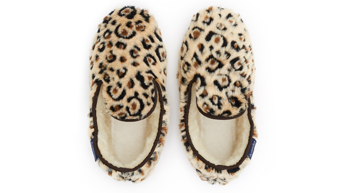 Armor Lux x Opening Ceremony Leopard Slippers, $95, available at openingceremony.com.