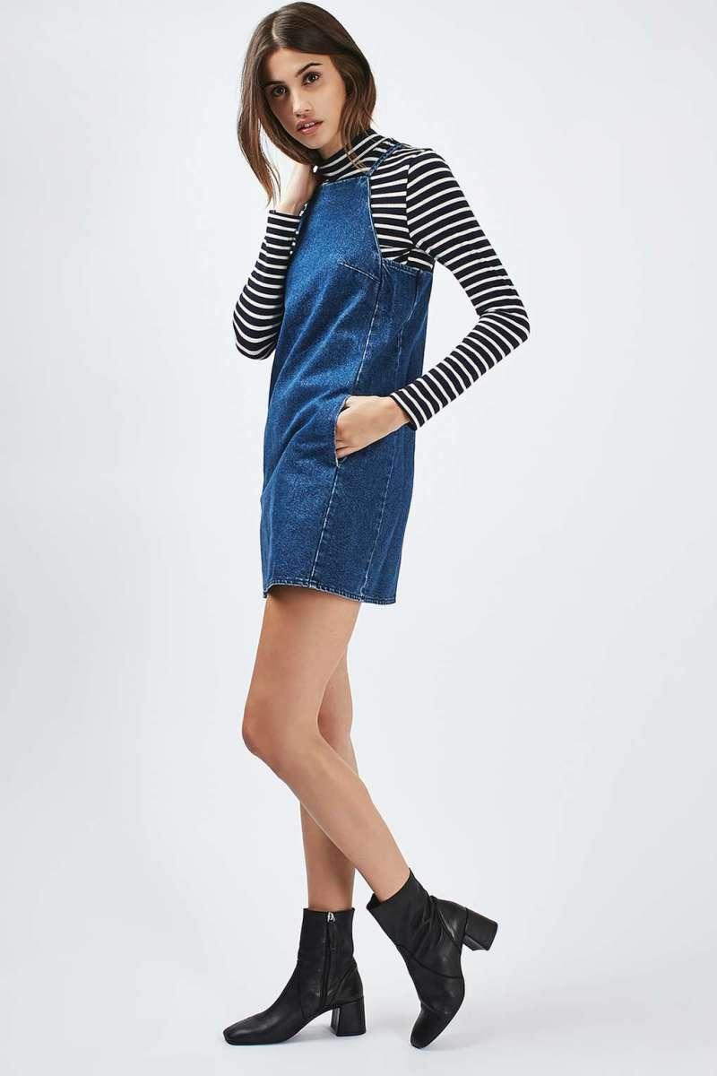 Moto square neck mini dress, $68, available at Topshop