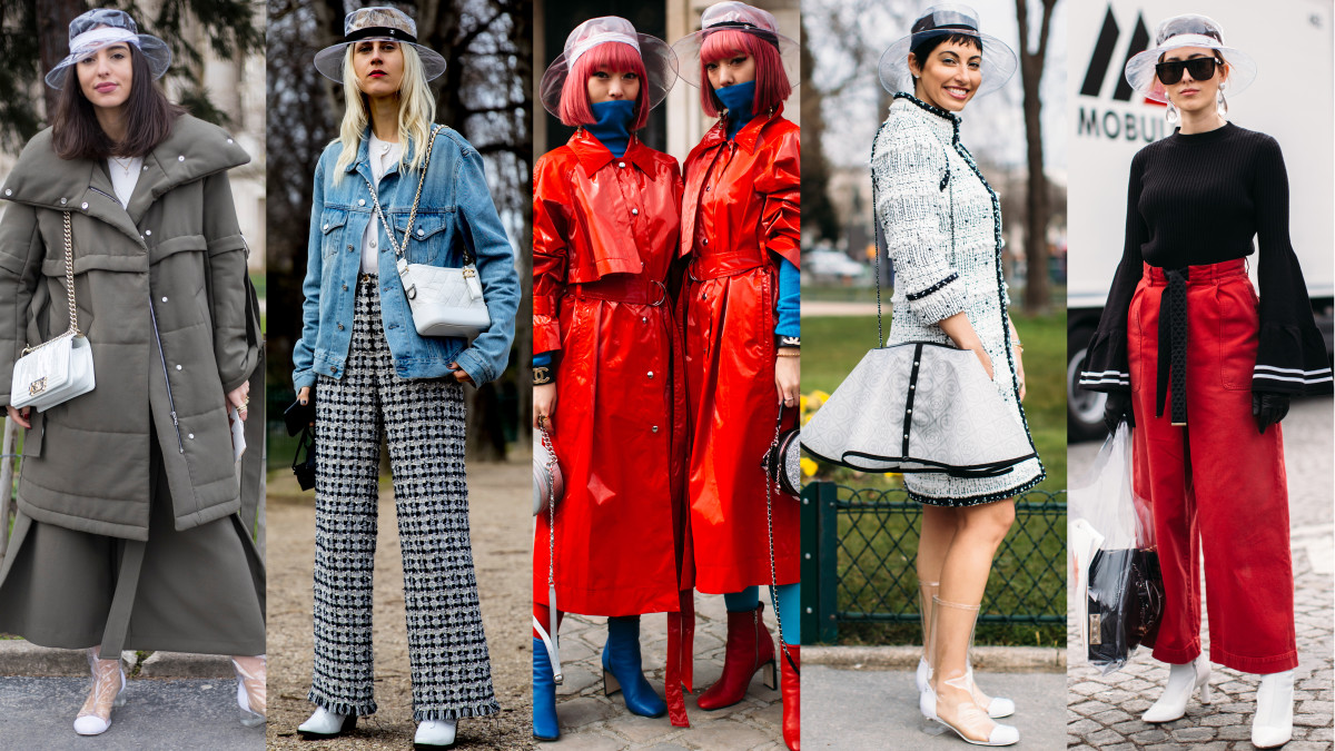 Chanel Pvc Hats Were Everywhere On The Final Day Of Paris