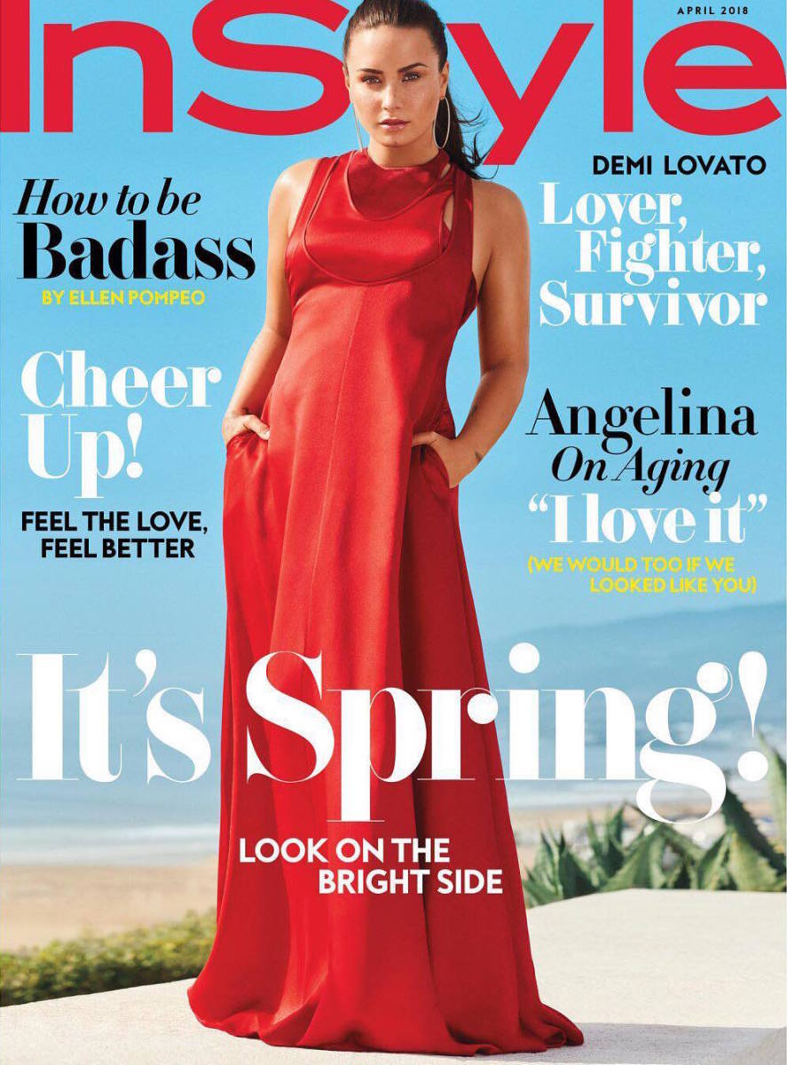 "Demi Lovato on the April cover of ""InStyle."" Photo: Carter Smith"