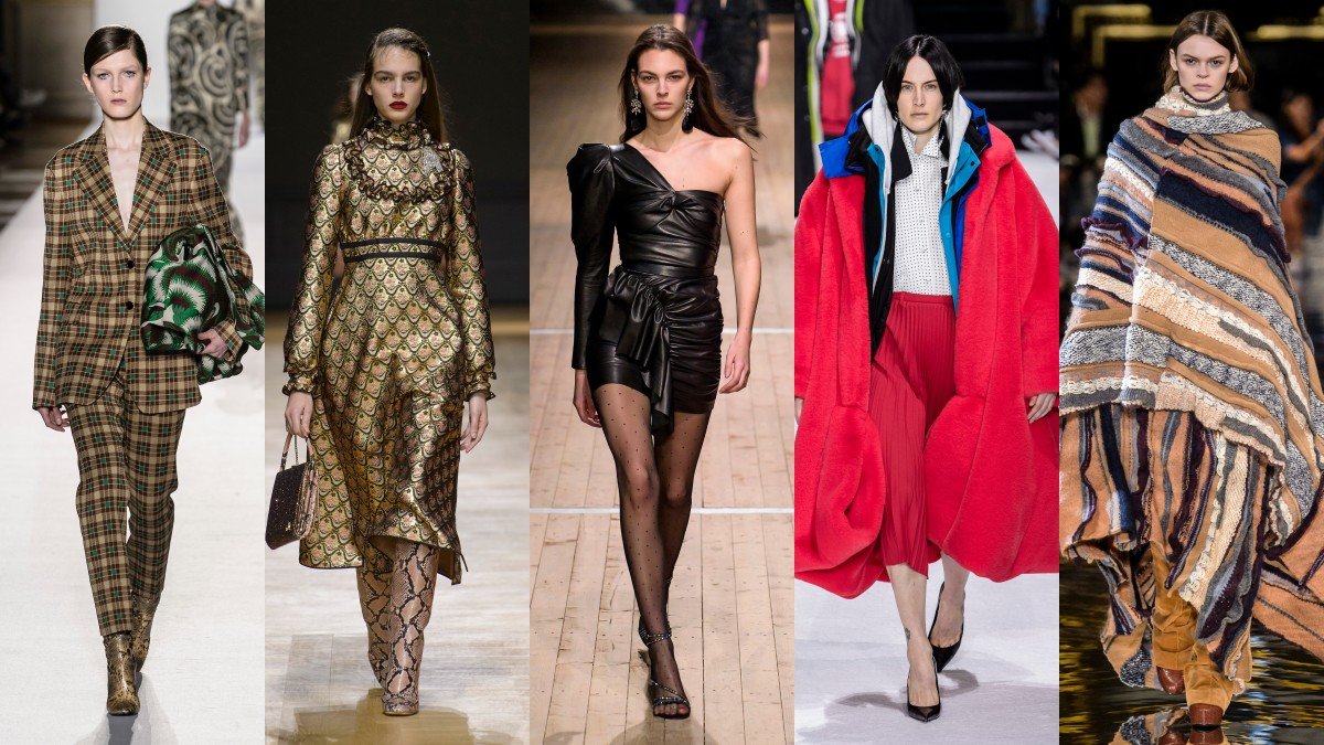 Looks from Dries Van Noten, Rochas, Isabel Marant, Balenciaga and Stella McCartney. Photos: Imaxtree
