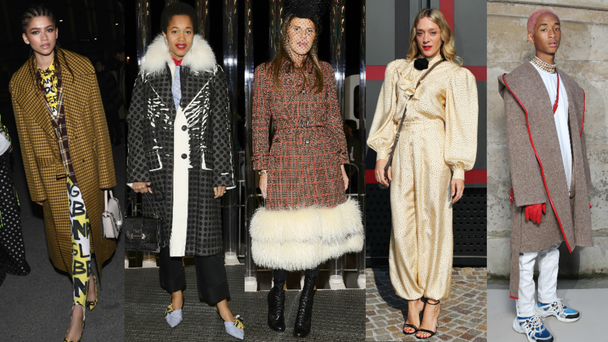 Zendaya, Tamu McPherson, Anna Dello Russo, Chloë Sevigny, Jaden Smith. Photos: Getty Images