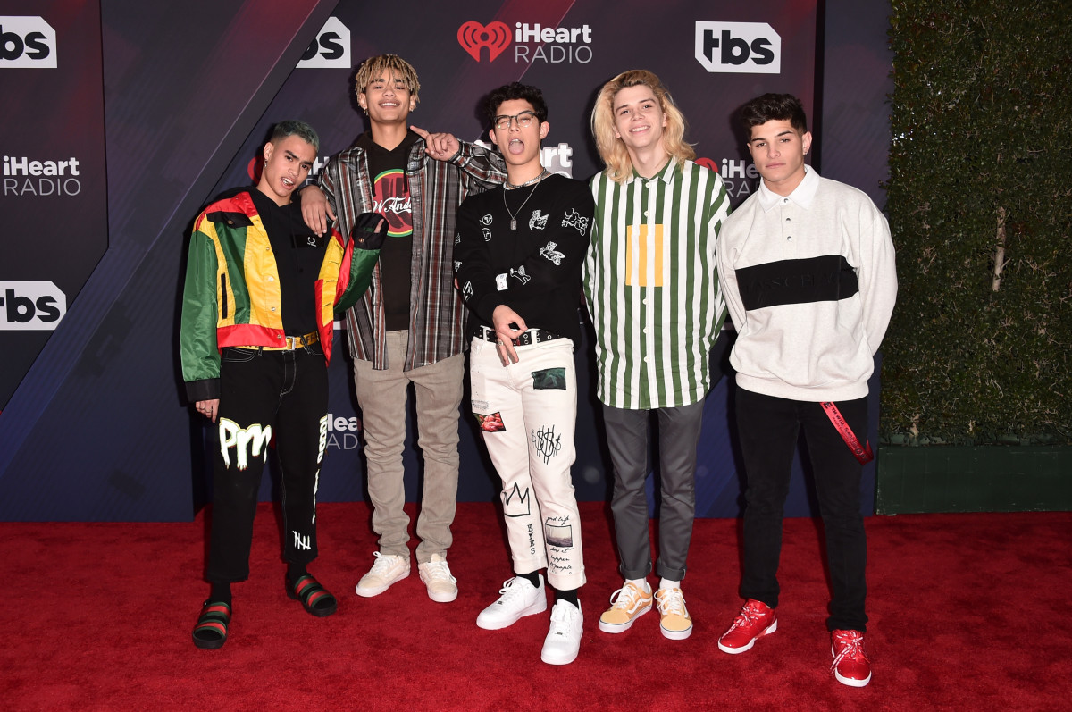 PRETTYMUCH at the 2018 iHeartRadio Music Awards. Photo: Alberto E. Rodriguez/Getty Images