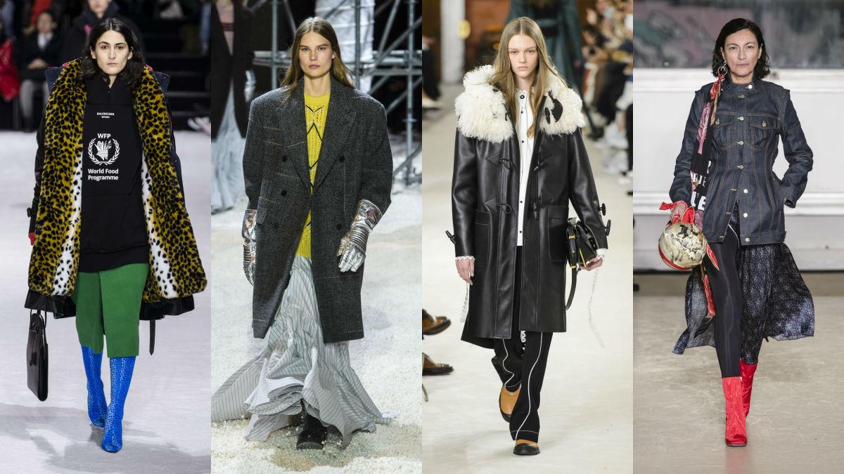 Balenciaga, Calvin Klein, Loewe, Marine Serre. Photos: Imaxtree