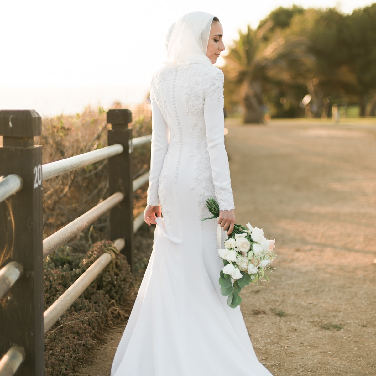 Hana wears her custom-designed Anomalie wedding dress. Photo: Julia Lexx Photography