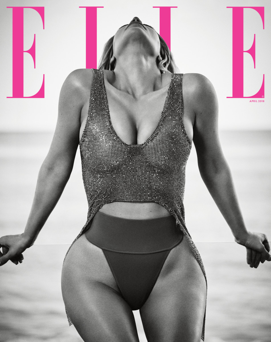 "Kim Kardashian on ""Elle,"" April 2018. Photo: Boo George/""Elle"""
