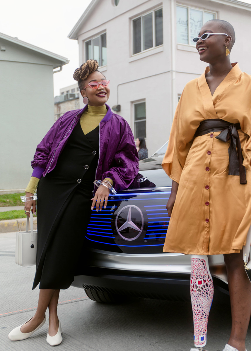 Kimberly Drew with Mama Cāx. Photo: Mercedes-Benz