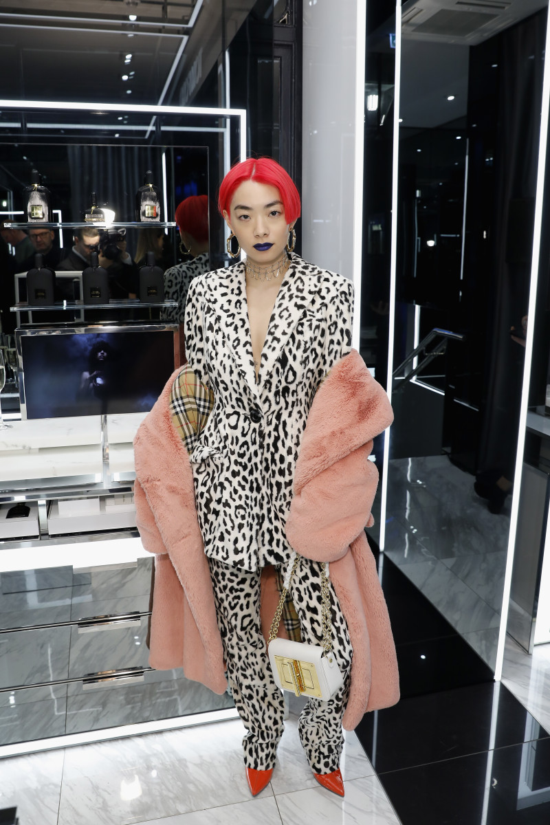 """Rina Sawayama at a Tom Ford Beauty party with """"Dazed"""" in London. Photo: Darren Gerrish/Getty Images"""