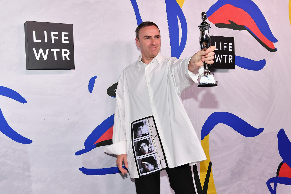 Raf Simons at 2017 CFDA Fashion Awards. Photo: Dia Dipasupil/Getty Images