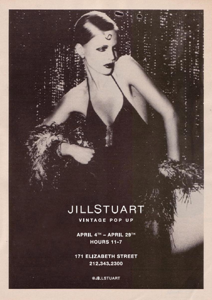 Jill Stuart Vintage Pop Up Flyer