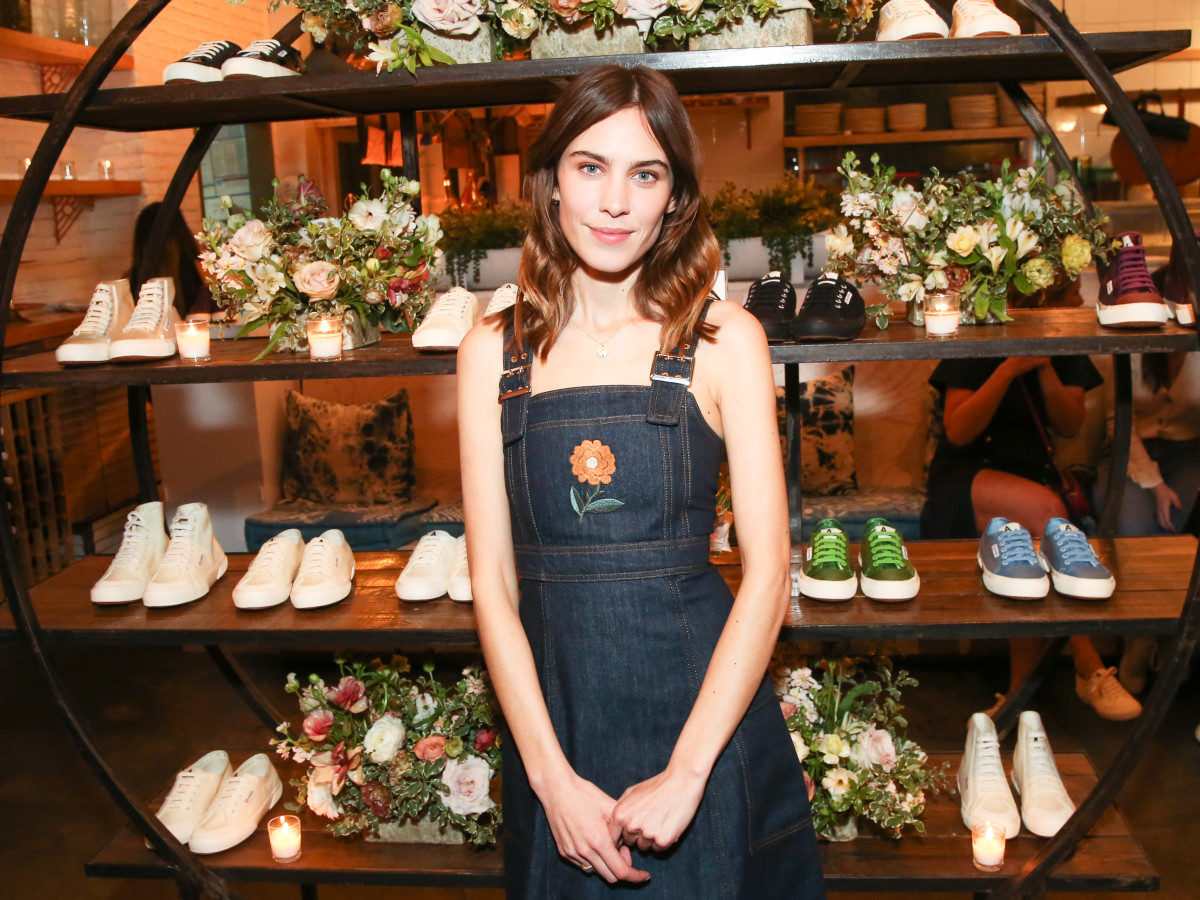 Alexa Chung at the Alexachung and Superga collaboration launch party. Photo: courtesy