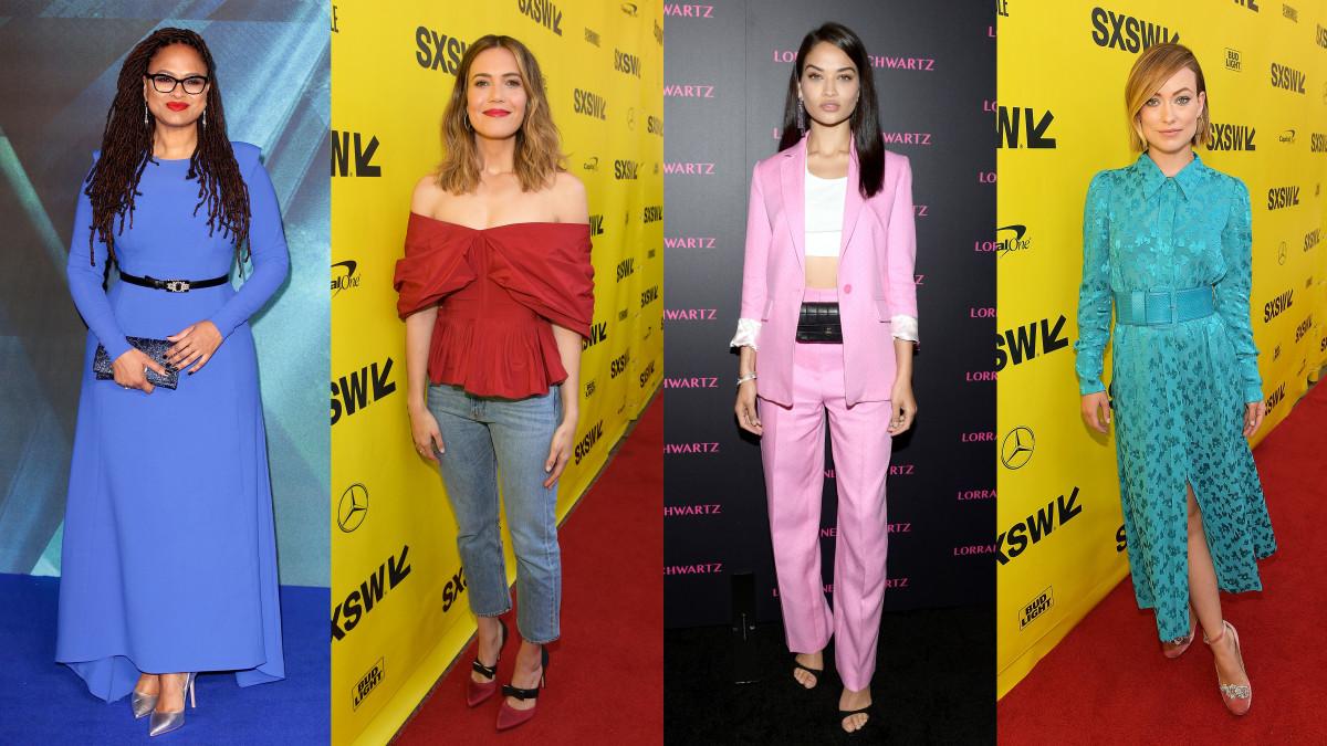 Ava DuVernay, Mandy Moore, Shanina Shaik and Olivia Wilde. Photos: Getty Images