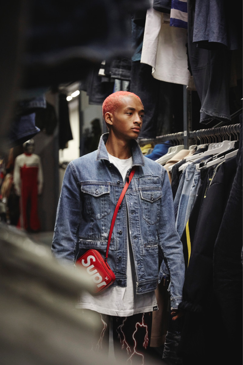 Jaden Smith visiting the G-Star archives. Photo: G-Star Raw