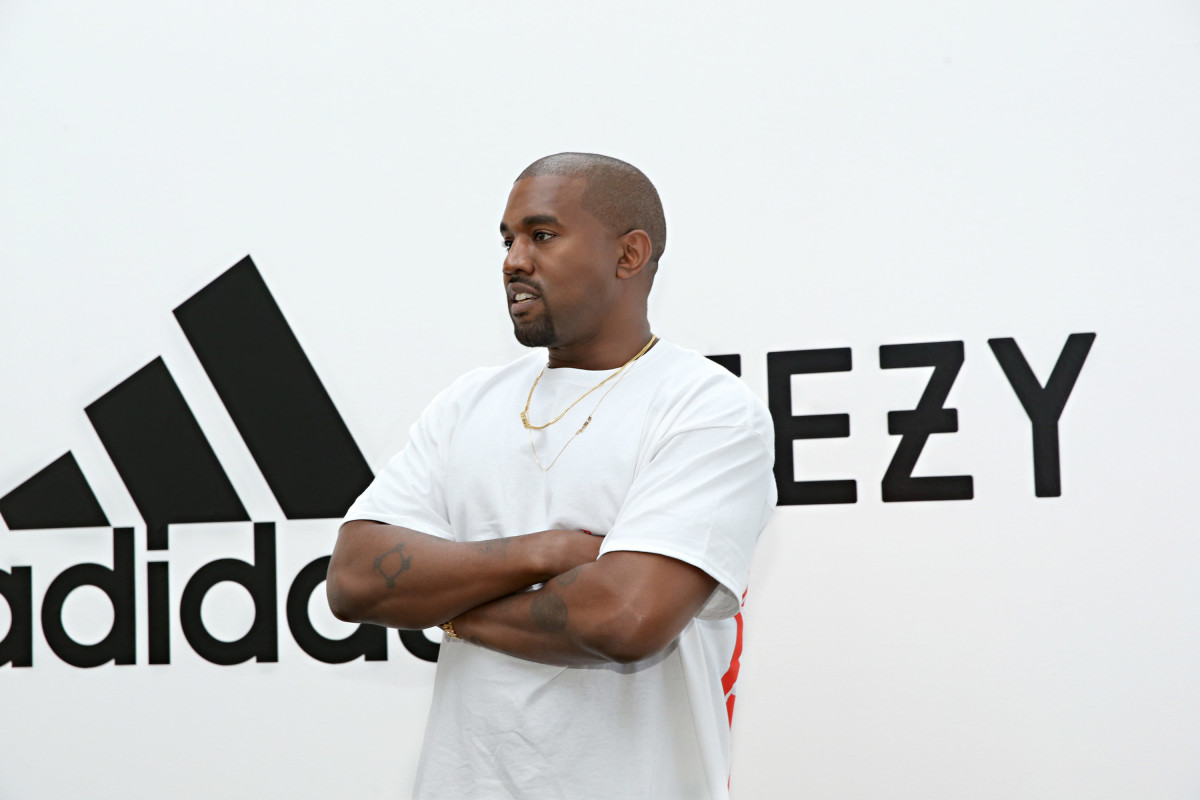 Kanye West at an Adidas event in 2016. Photo: Jonathan Leibson/Getty Images