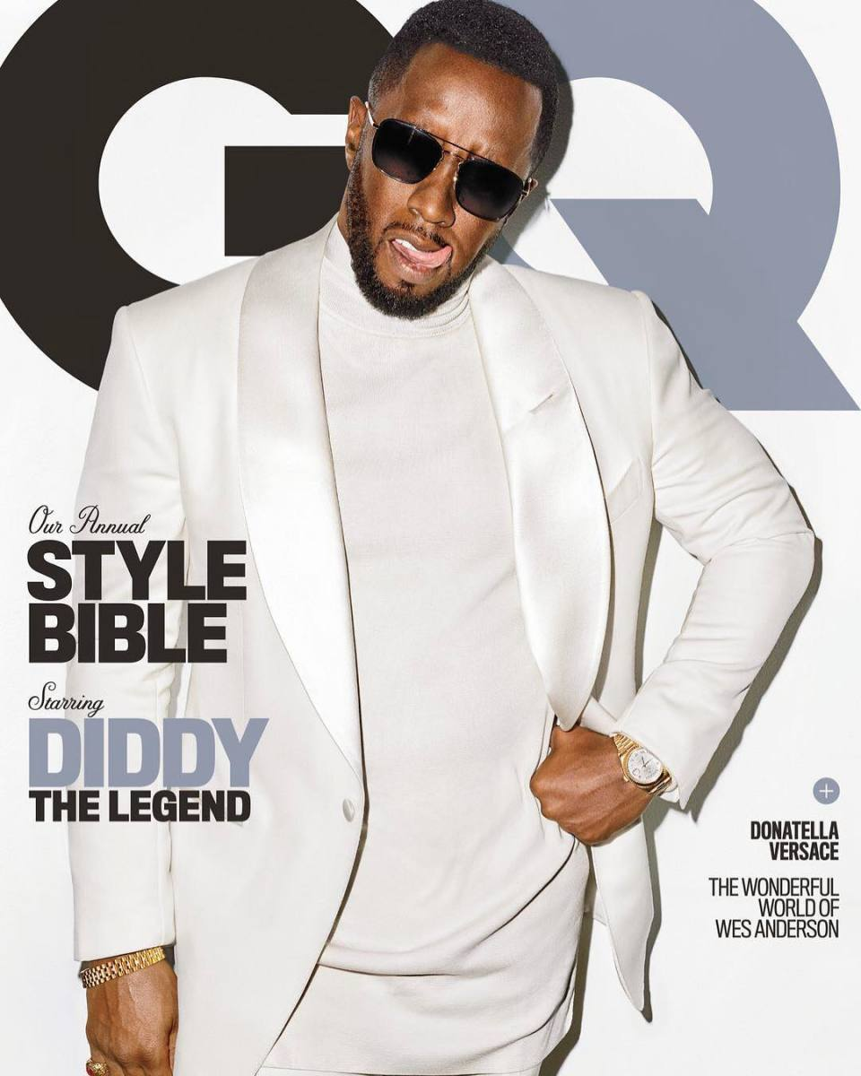"""Diddy on the April cover of """"GQ."""" Photo: @gq/Instagram"""