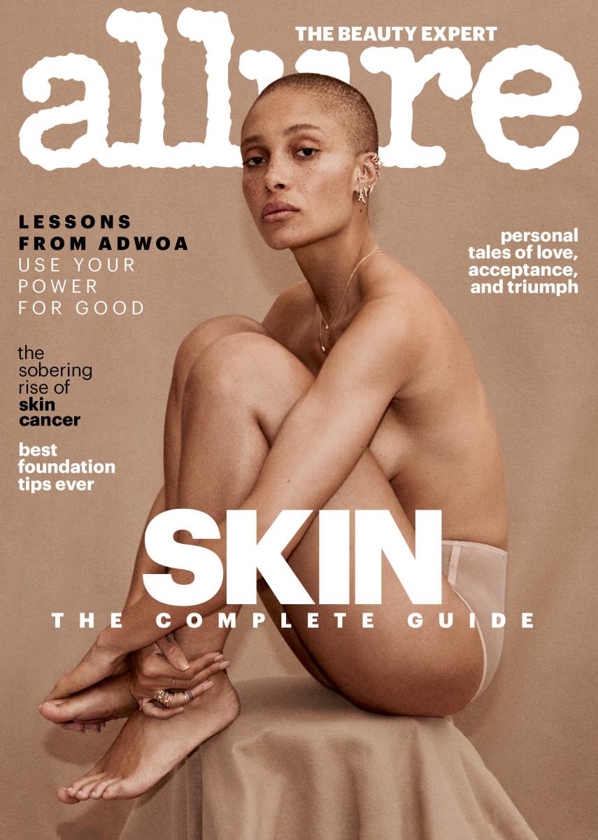 "Adwoa Aboah on the cover of ""Allure""'s April 2018 issue. Photo:Daniel Jackson/""Allure"""