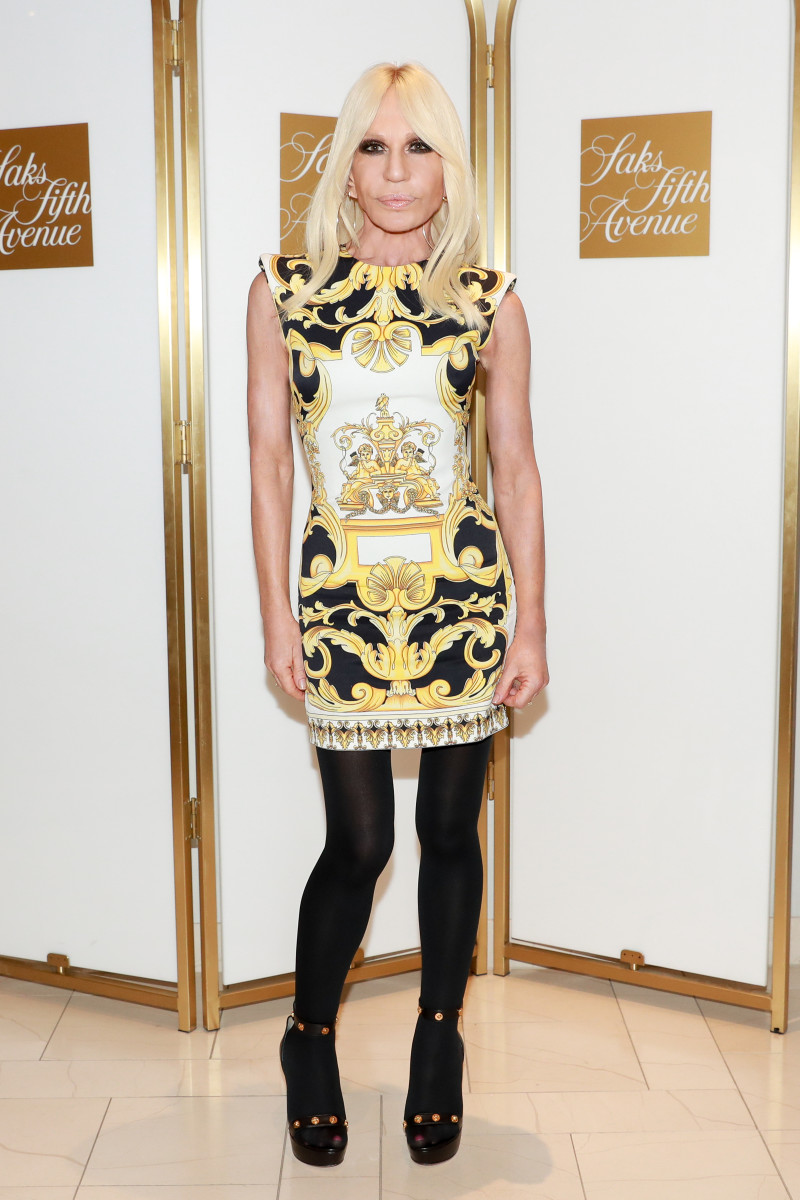 756b452c966 Donatella Versace at Saks Fifth Avenue. Photo  BFA for Saks Fifth Avenue