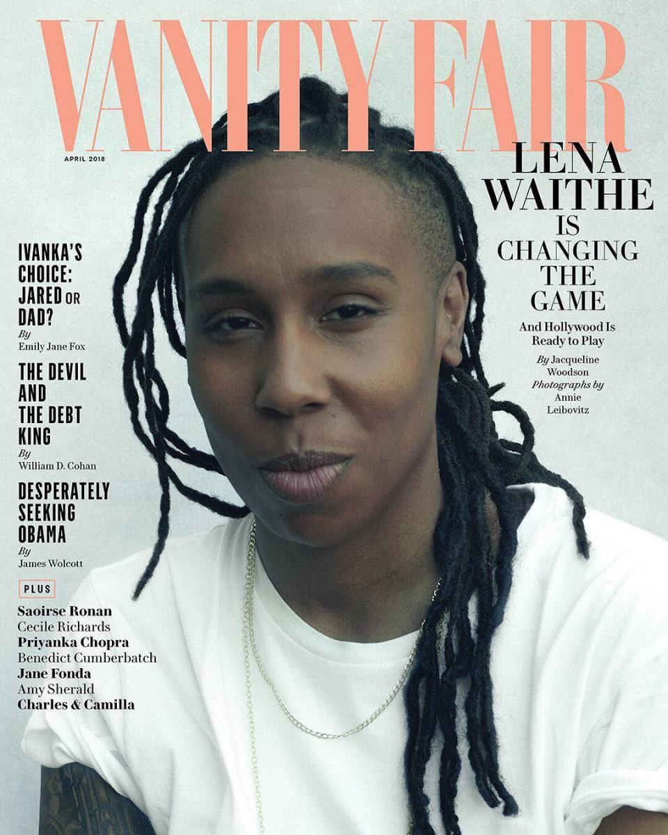 "Lena Waithe on the April cover of ""Vanity Fair."" Photo: @vanityfair/Instagram"