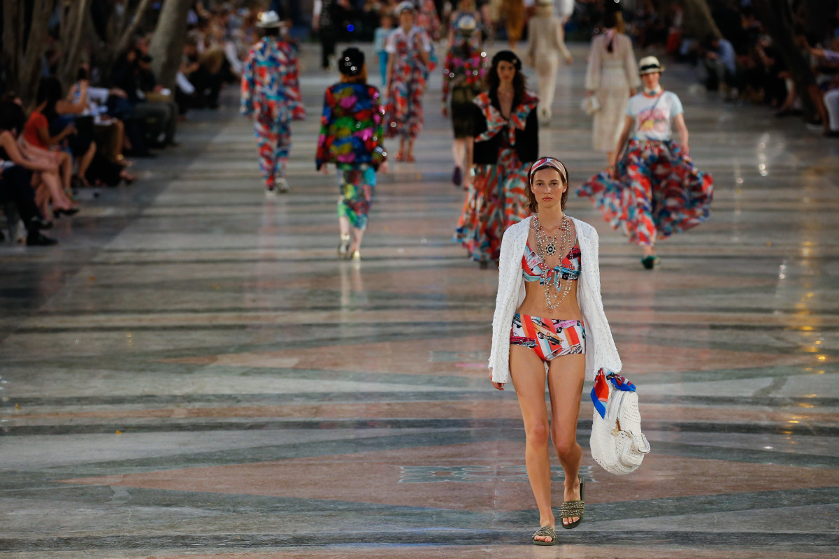 Looks from the Chanel 2017 resort collection. Photo: Thomas Concordia/WireImage