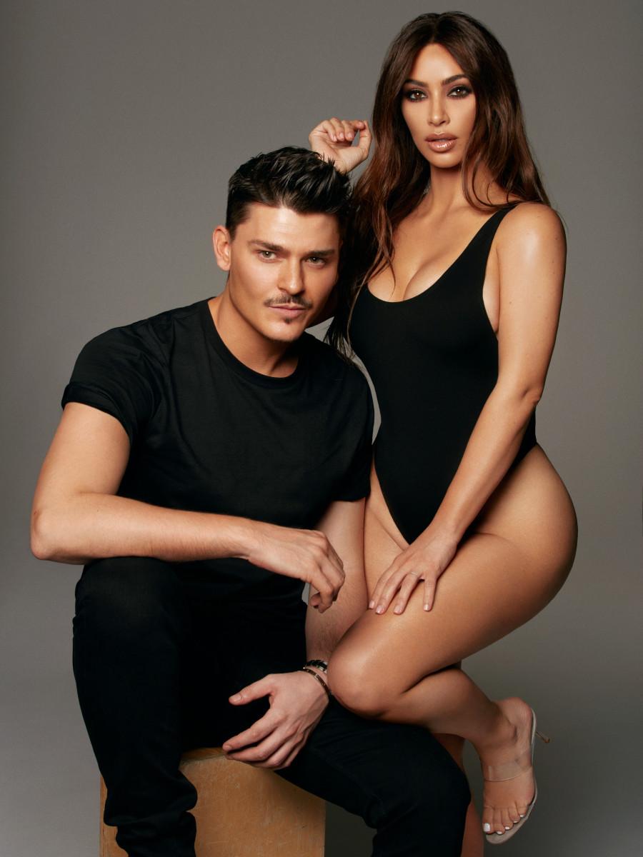 Mario Dedivanovic and Kim Kardashian for KKW Beauty.Photo: Greg Swales/KKW Beauty