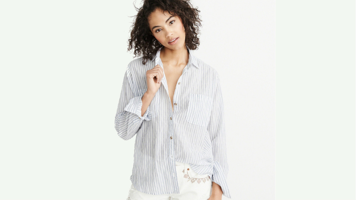 e5e3ea3bf Maura Is on a Mission to Tell the World About Abercrombie & Fitch's Stellar  New Shirting - Fashionista