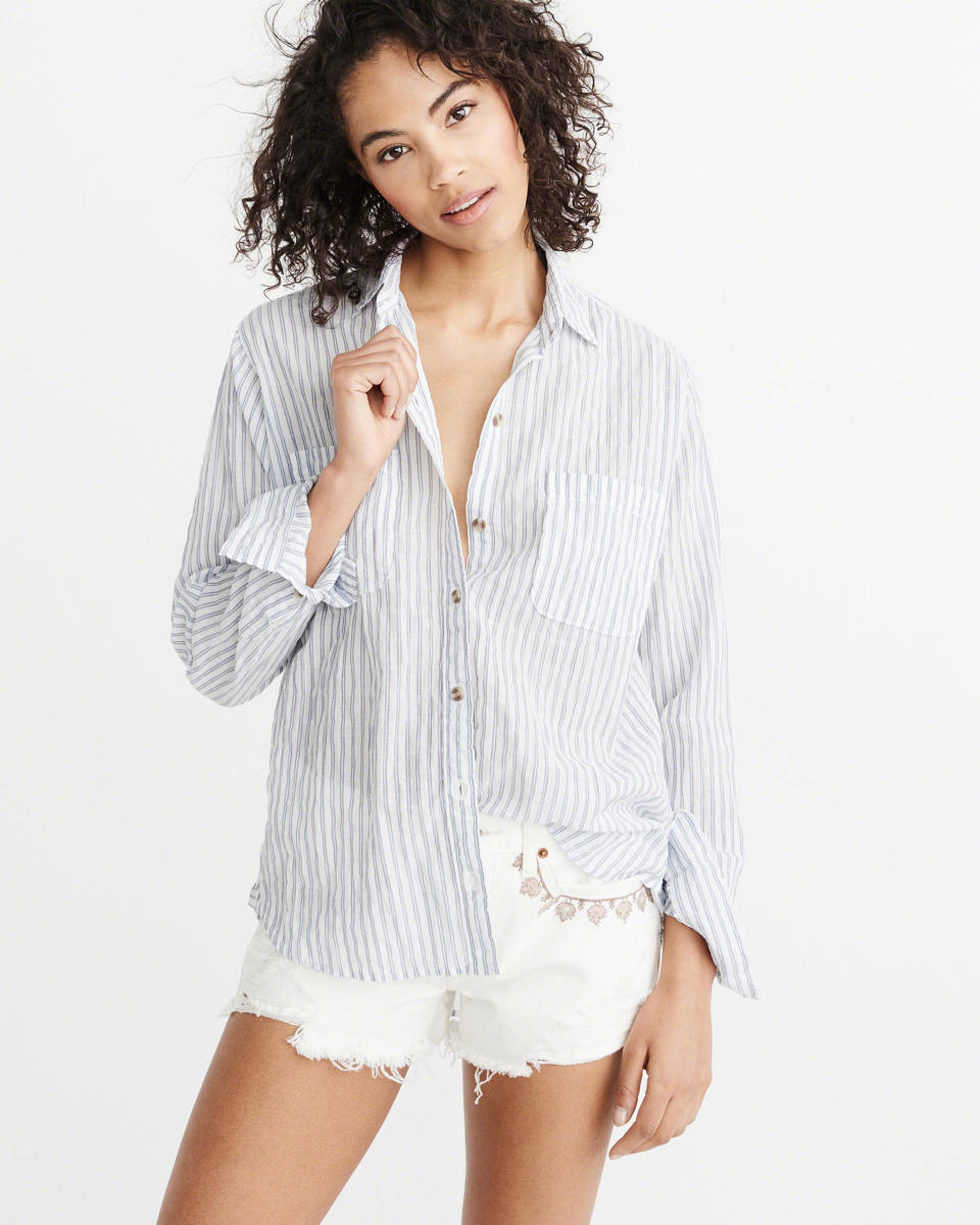 Boyfriend Shirt, $58, available at Abercrombie & Fitch.