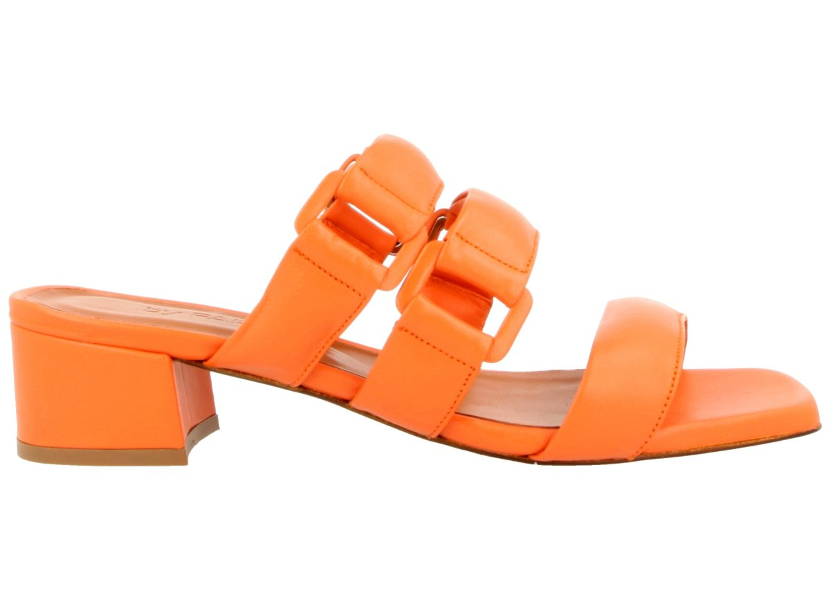 Day Approach orange sandals, $467, available at By Far.