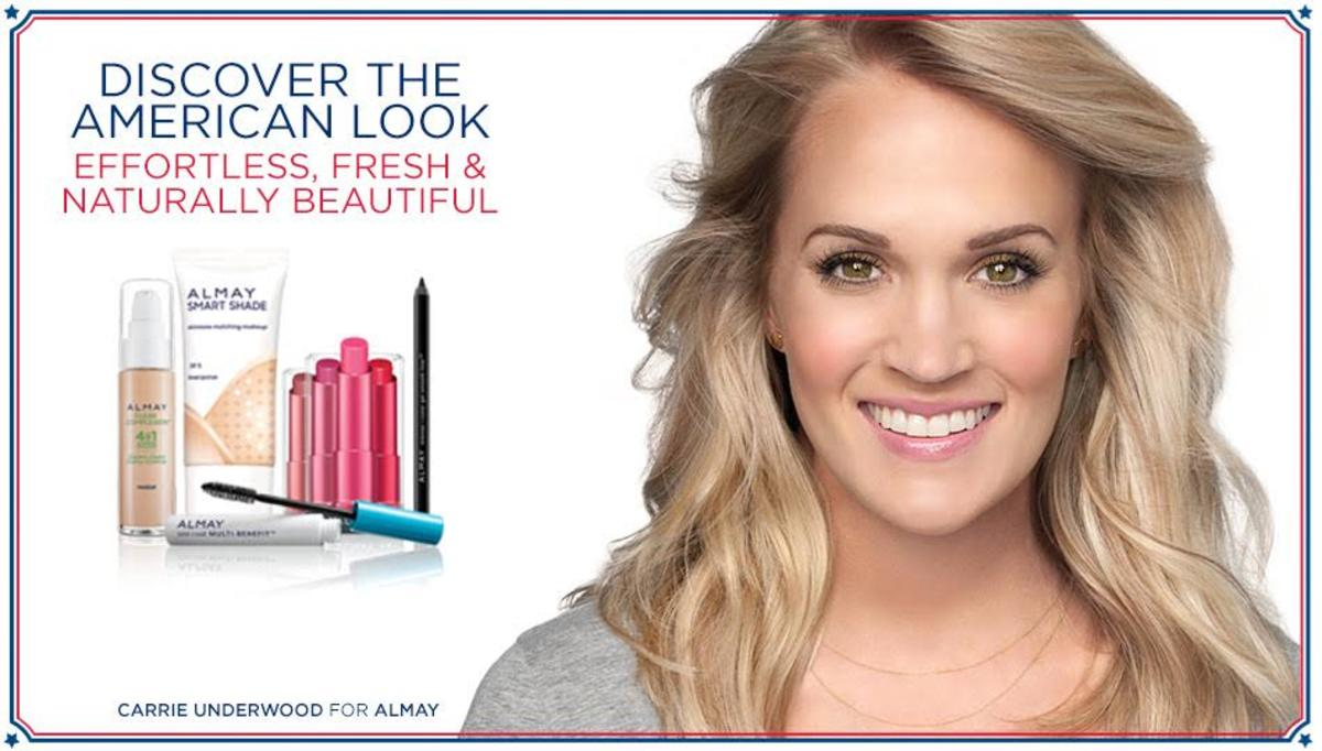 Carrie Underwood in an Almay campaign. Photo: Courtesy of Almay