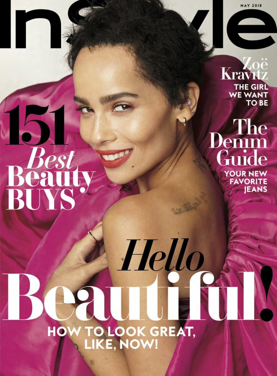 "Zoë Kravitz on the May cover of ""InStyle."" Photo: Anthony Maule"